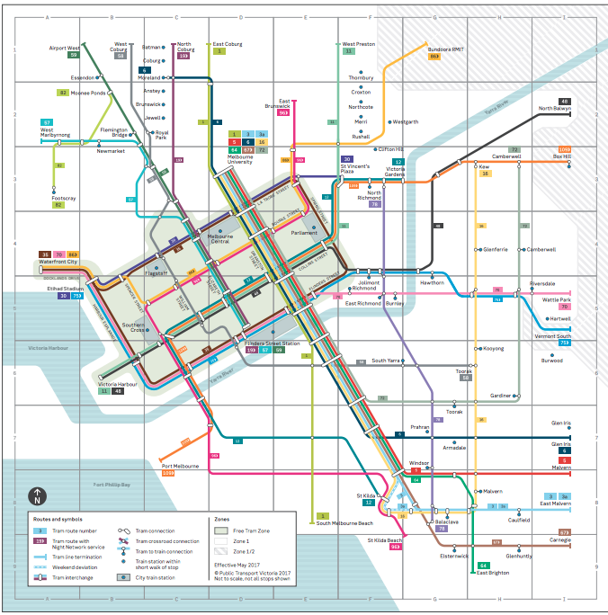 trams network